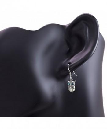 Oxidized Sterling Silver Greenish Earrings in Women's Drop & Dangle Earrings