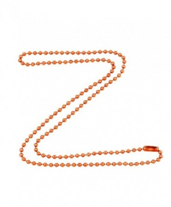 2.4mm Bright Copper Ball Chain Necklace with Extra Durable Color Protect Finish - CR12IERSG1R