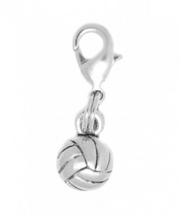 Clayvision Volleyball/Water Polo Ball Charm (Flat Back) Zipper Pull for bracelets and decoration - C4115VC0VJJ