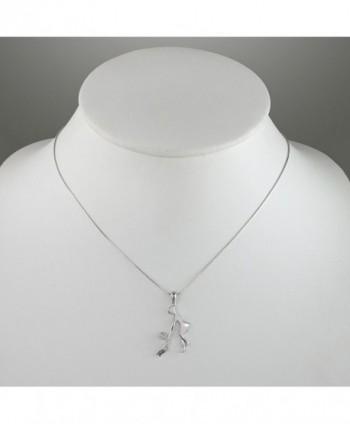 Sterling Zirconia Holding Pendant Necklace in Women's Pendants