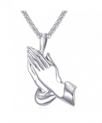 Praying Pendant Christian Stainless Necklace - CX12O2H47BY