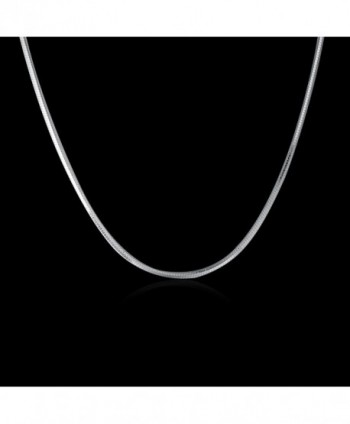 MONJER Sterling Snake Necklace Lightweight in Women's Chain Necklaces