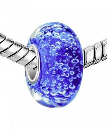 LovelyJewelry Bubbles Murano Charms Bracelet