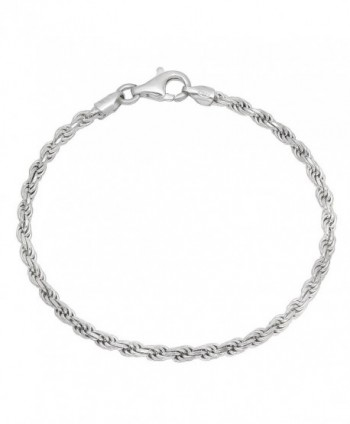 3.2mm 925 Sterling Silver Nickel-Free Diamond-Cut Rope Link Italian Chain + Bonus Polishing Cloth - CN12JXAWOP7