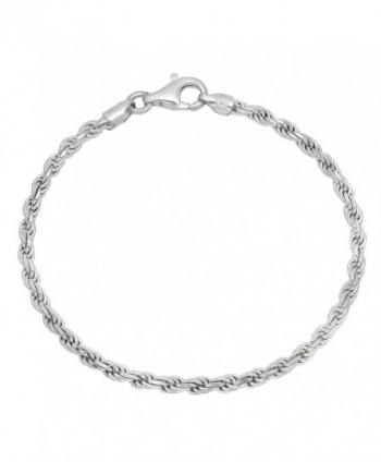 3.2mm 925 Sterling Silver Nickel-Free Diamond-Cut Rope Link Italian Chain + Bonus Polishing Cloth - CN12JXAWOP7