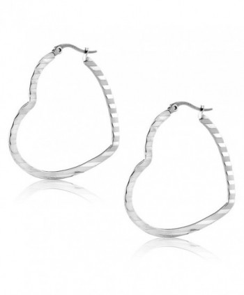 Inches Stainless Steel Silver Earrings