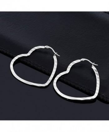 Inches Stainless Steel Silver Earrings in Women's Hoop Earrings