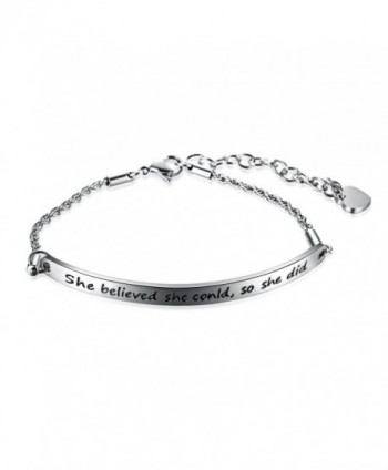 JunXin Stainless believed Inspirational Bracelet - CJ185U3TNYW