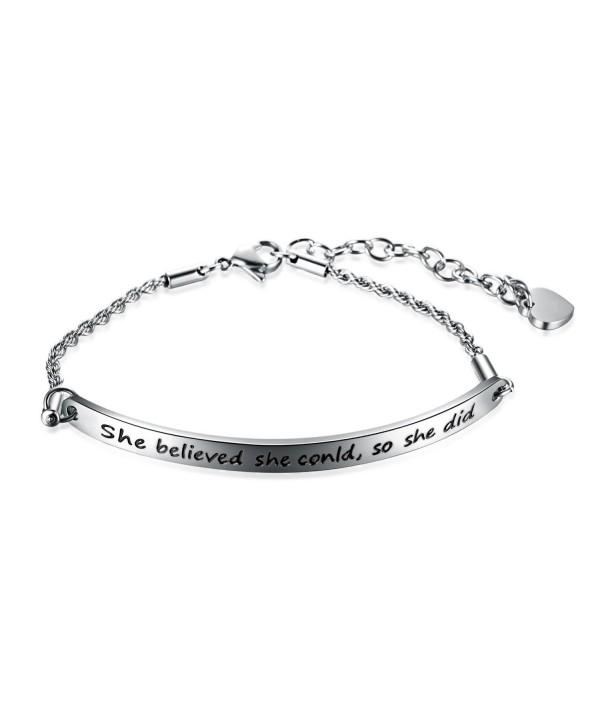 JunXin Stainless believed Inspirational Bracelet - CJ185U3TNYW