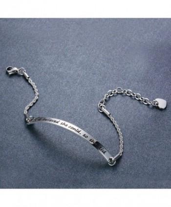 JunXin Stainless believed Inspirational Bracelet in Women's Link Bracelets