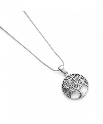 Oxidized Sterling Filigree Ancient Necklace