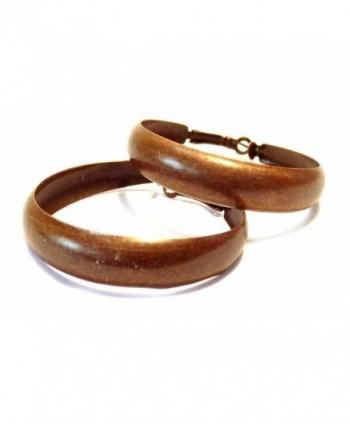 Matte Bronze Hoop Earrings 2 Inch Thick Hoop Earrings Lightweight Earrings - CY124I3QJJ7