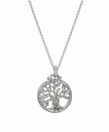CharmsAndI Sterling Silver Tree of Life Wisdom Pendant Necklace - C512H8VEUV5