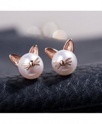 Meow Star Earrings Sterling Freshwater