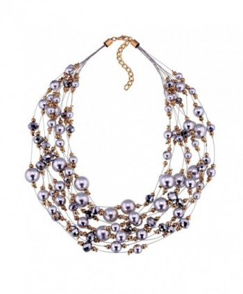 Jewelry Simulated Crystal Statement Necklace - CI120UAW74H