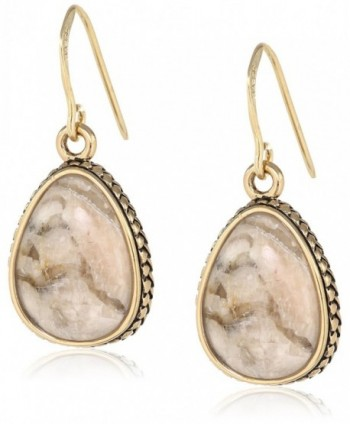 Barse Feldspar Jasper Teardrop Earrings - C811IQT07E3