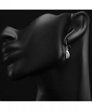 Sterling Silver Rounded Dangle Earrings in Women's Drop & Dangle Earrings