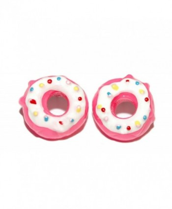 HOT PINK & WHITE SPRINKLE FROSTED DONUTS DOUGHNUTS STUD EARRINGS (S041) - CA182DNQMNA