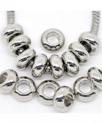 Ten (10) Charm Spacer for European Style Bracelet For Snake Chain Charm Bracelet - CQ11C2FSH53