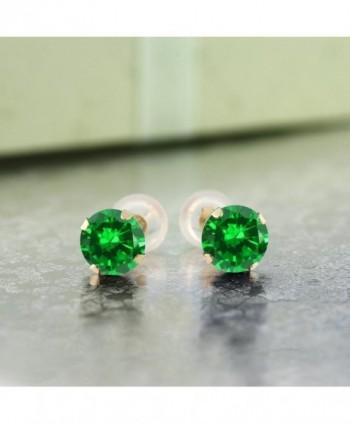 Yellow Simulated Emerald Womens Earrings