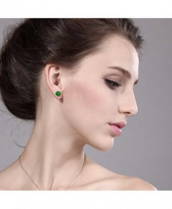 Yellow Simulated Emerald Womens Earrings in Women's Stud Earrings