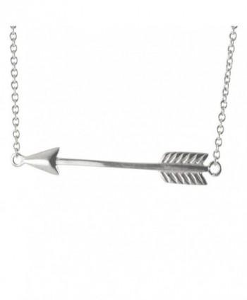 apop nyc Chevron Arrow Pendant Necklace 17 inch Sterling Silver - CS11DFKZF8L