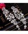 BriLove Bohemian Chandelier Earrings Silver Tone in Women's Drop & Dangle Earrings