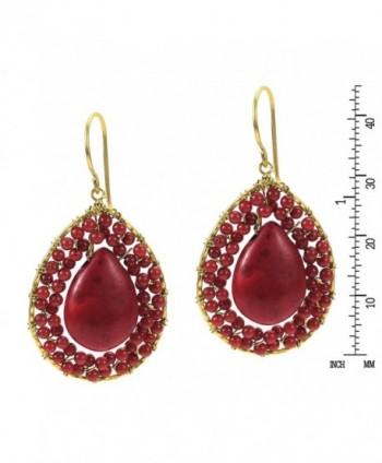 Mosaic Teardrop Reconstructed Handmade Earrings in Women's Drop & Dangle Earrings