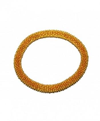 Crochet Glass Seed Bead Bracelet Roll on Bracelet Nepal Bracelet - CQ1207AFFSZ