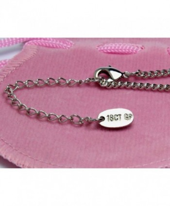 Name Necklace Audrey White Plated in Women's Chain Necklaces