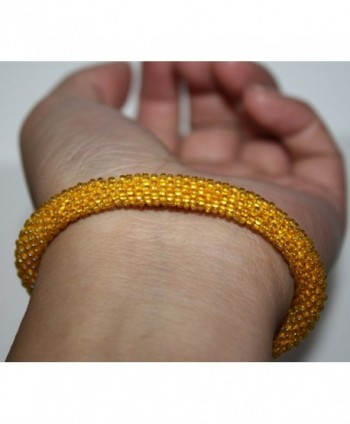 Crochet Glass Seed Bracelet Nepal in Women's Strand Bracelets