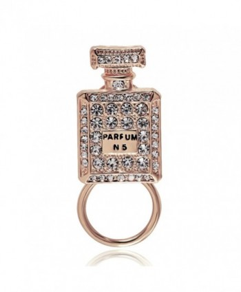 BEICHUANG Stylish Perfume Bottle Eyeglass Holder N 5 Crystal Brooch Pin - C0182A5OKRZ