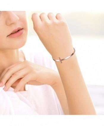 Oidea Polished Stainless Bracelet Birthday in Women's Cuff Bracelets