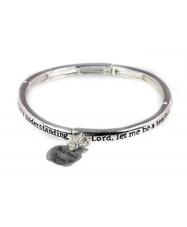 4030087a Teacher Prayer Stretch Bracelet Gift Christian Scripture Religious - C211HSM5G2H