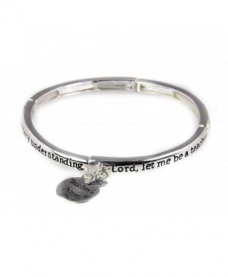 4030087a Teacher Prayer Stretch Bracelet Gift Christian Scripture Religious - C211HSM5G2H