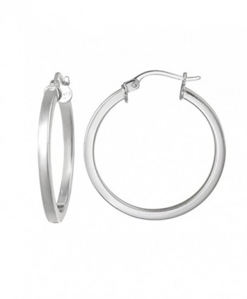 Hoops & Loops Sterling Silver 2mm High Polished Square Small Hoop Earrings - CH12CLAMI7F