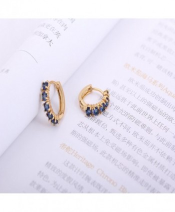 YAZILIND Charming Plated Zirconia Earrings in Women's Hoop Earrings