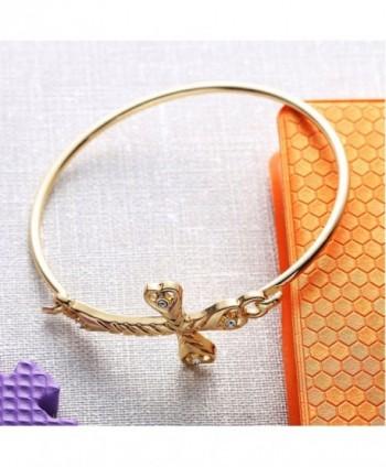 CHUANGYUN Rhinestone Bracelet Bangle Silver