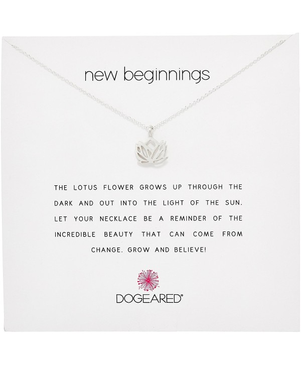 Reminders New Beginnings Rising Lotus Pendant Necklace Silver