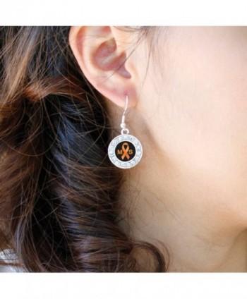 Multiple Sclerosis Awareness Earrings Rhinestones in Women's Drop & Dangle Earrings