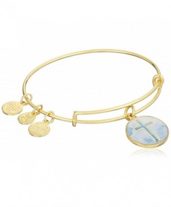 Alex and Ani Womens Art Infusion Cro Bracelet - Rafaelian Yellow Gold - CR12CLYTX6V