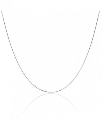 """925 Sterling Silver 1MM Magic 8 Sided Italian Snake Chain - For Women - Lobster Claw Clasp 16 - 30"""" - CS12JXYRBHP"""