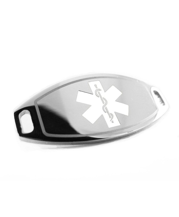 MyIDDr - Steel- Medical Alert ID Plate- Can be Attached to an ID Bracelet- White Symbol - C5116JZY9KJ