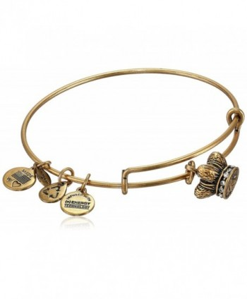 Alex and Ani Womens King's Crown Charm Bangle - gold - C1114AZG4GV