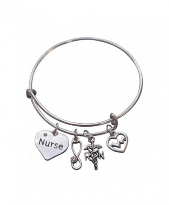 Nurse Jewelry Set- Nurse Bracelet & Nurse Earrings Nurse Bangle- Makes Perfect Nurse Gifts - C012ICSWJ1L