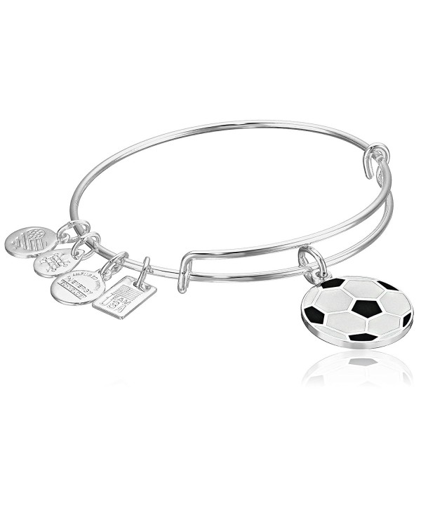 Alex and Ani Team USA Soccer Expandable Bangle Bracelet - Shiny Silver - C712EU7W4LD