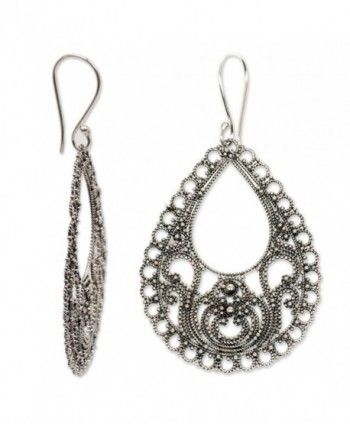 Novica Sterling Silver Filigree Earrings In Women S Drop Dangle