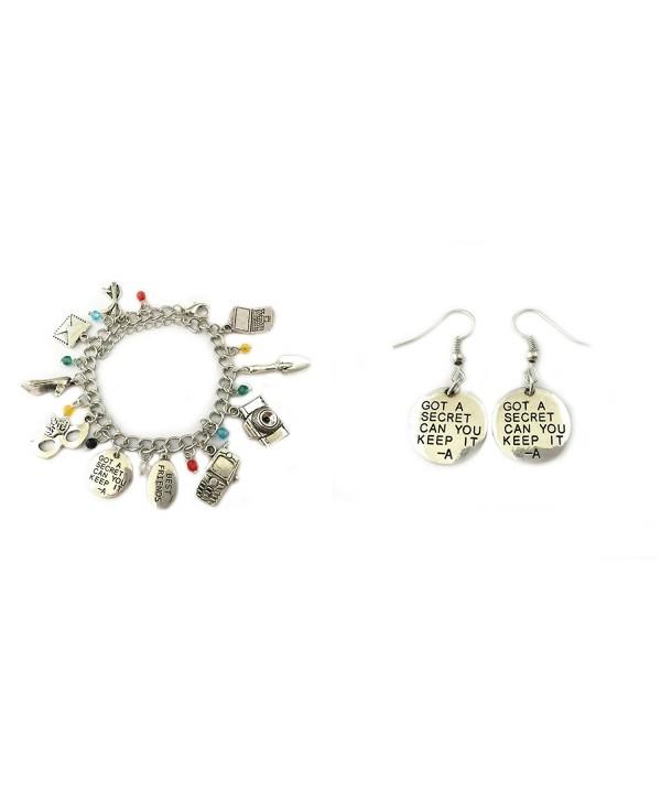 Pretty Little Liars 2-Pack Bracelet & Earrings in Gift Box by Superheroes - CY17XSR27ET