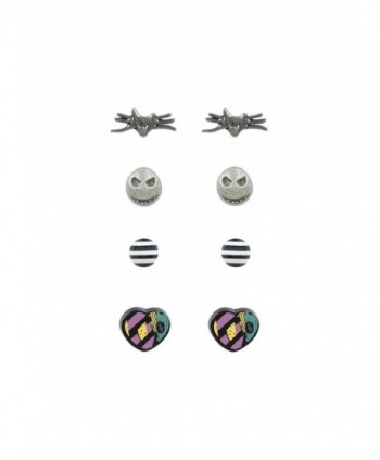 The Nightmare Before Christmas Character 4 Pair Stud Earring Set - CP12O2LVYUM