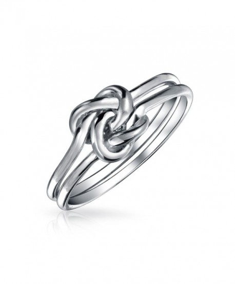 Bling Jewelry Double Band Love Knot Infinity Sterling Silver Ring - CR11UFBDUH1